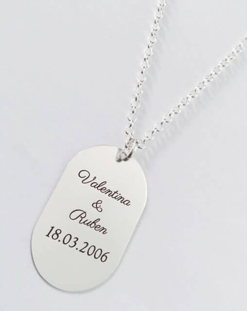 placa plata personalizada