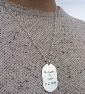 placa plata hombre