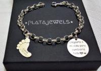 pulsera personalizada plata