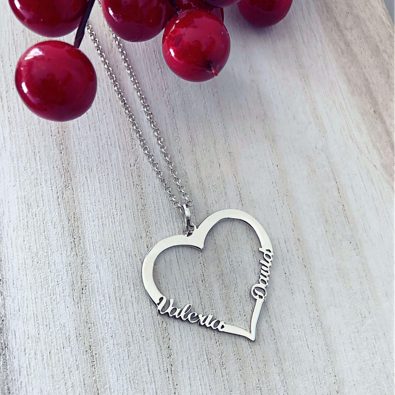 colgante corazon personalizado