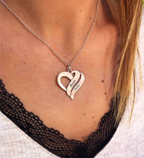 collar corazon nombre