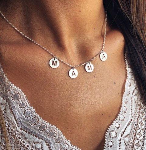 collar plata mama