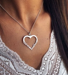 collar corazon nombres