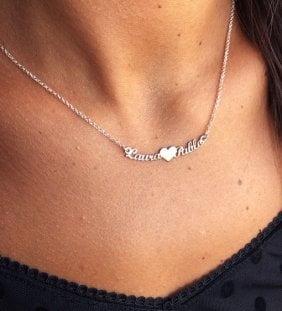 collar nombres plata