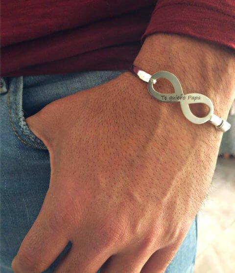 pulsera plata hombre