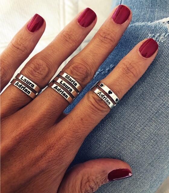 anillo nombres plata