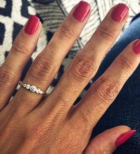 anillo mujer plata