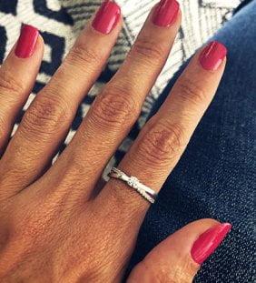 anillo solitario plata